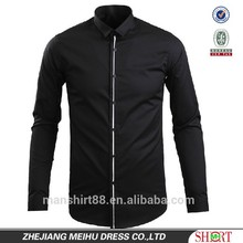 latest fashion contrast color dress shirt or camisa