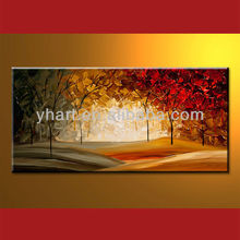 pintura de arte sobre lienzo paisajes