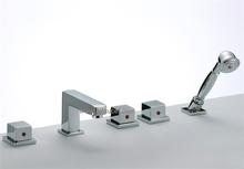Hot and Cold Triple Handles Bath Faucet Mixer (85H10-CHR)