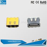 Surface Mount Straight Solder 4k*2k HDMI socket connector for ps4