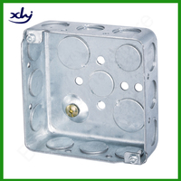 Latin America 1.5mm thick EMT square 4x4 electrical metal box