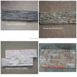 Superior slate stacked natural wall stone cladding