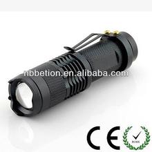 3W 250LM Mini Adjustable Focus Zoom LED Flashlight tactical led flashlight