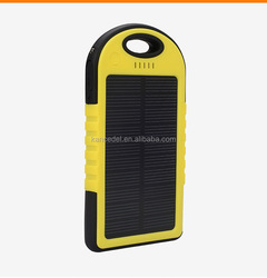 2015 new design power bank charger,solar powerbank/waterproof 5000mah solar power bank,power bank slim