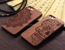 Cell phone accessory laser engraving custom design Plastic wooden cell phone case for iphone case covers wood wholesale alibaba