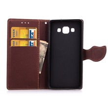 Leaf pattern case for Samsung galaxy A7,for Samsung galaxy A7 leather case with card slot