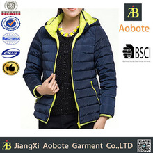 2015 Latest Design Custom Outdoor Long Woman Quilted Winter Jacket