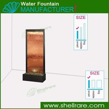 Factory directly sale indoor water fountains ,bronze mirror waterfalls,floor standing water fearture