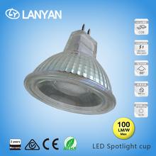 unique design glass body led spot light gu10 3w 5w 7w warm/cool white