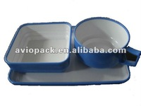 inflight plastic rotable,coffee cup, plate, salad bowl