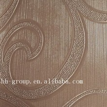fabric wall hanging decoration/bedroom interior decoration panel for wall/wall relief decoration pvc leather