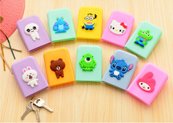 eco-friendly new style square shape silicone key bag