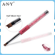 ANY Professional Nail Art French Nails Painting Pink Rhinestone UV Gel Brush Smile Nails