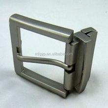 promotional sliver plated reversible belt buckle