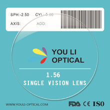 1.56 Resin Optical Lens Manufacturers in China