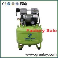 Portable silent oil free dental mute air compressor