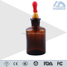 High Quality Glass Amber Dropping Bottle with Ground-in Pipette and Latex Rubber Nipple