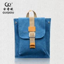 Custom Special design hot colorful outdoor Canvas Leather Backpack Wholesale