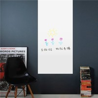 Colorcasa removable wall sticker PVC wall paper ZY227 office whiteboard 3D wall sticker art home decor for class&office room
