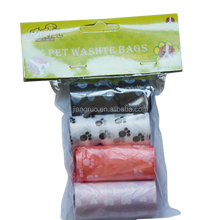 4 rolls a bag colorful wholesale pet waste roll bag