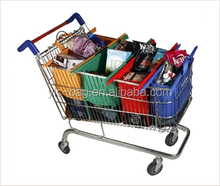 New Large Reusable Foldable Expandable Eco Friendly Non-Woven Cotton Shopping Cart Hand Tote Grocery Bags