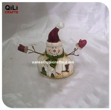 Antique Resin Snowman with open arms Welcoming Christmas snowman ornaments