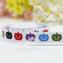 "3/8"" Halloween Printed Ribbon"