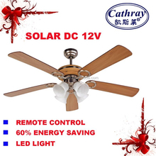 Solar powered decorative ceiling fan
