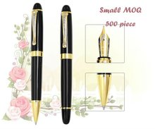 Small MOQ 500 piece with logo printting Executive metal ball pen