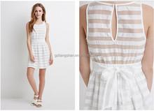 OEM Wholesale Bulk Women Fashion Sleeveless Evening White Short Mini Dress