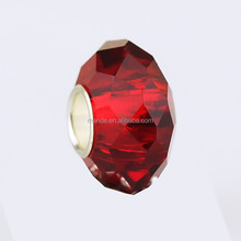 Wholesale cheap loose crystal faceted beads for luxury bracelet jewelry charms