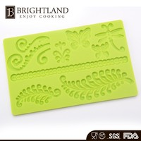 Top Quality cake decorating stencils Silicone Cake Decorating Mold Cake Topper