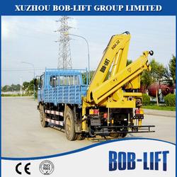 China building material machinery hydraulic folding truck crane truck 6.3t sales