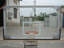 Basketball backboard with hoop net