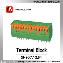 Sanhe connector Manufacture screwless terminal block 2.54mm