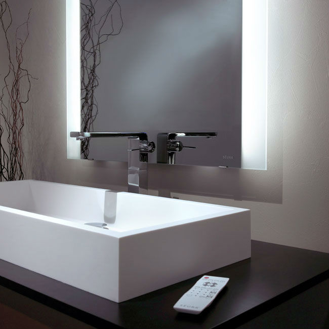 Hotel bathroom mirror with back lights, lighting vanity mirror, 16 years supply for hotels, View ...