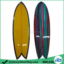 Alibaba bottom price painting and bamboo surfboard
