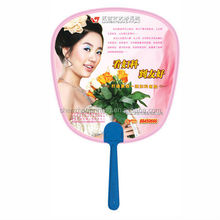 custom 2015 cheap promotional handle printing Unique hand fan with handle