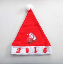 new 2015 wholesale music led funny christmas hat for children Santa hats dancing