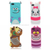 New Cute 3D Cartoon Monster university Sulley Marie Alice Cat slinky dog back Cover Soft Case For iphone 5 5G 5S 5C