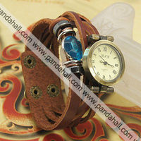 Fashion Design Vintage Leather Wrap Bracelet Antique Ladies Watches