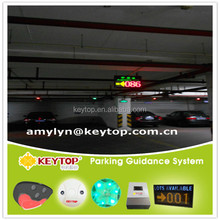 low cost parking guidance systems with led message boards to guide vehicles to empty parking lots quickly