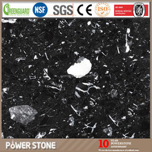 Artificial Black Marble with White Veins