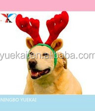 Holiday Gift Ideas for Pets ---Reindeer Antler Santa Hat Deer Horn Christmas Cap