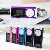 Mini Clip Display Screen MP3 Player Portable Music Player With Sd Card Slot 19372