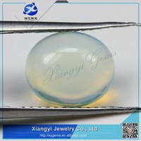 Glass gems made in china oval flat bottom cabochon glass gems for sale