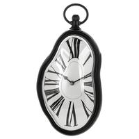 Roman Numeral Retro Timepiece Melting Distorted Wall Clock(Black)