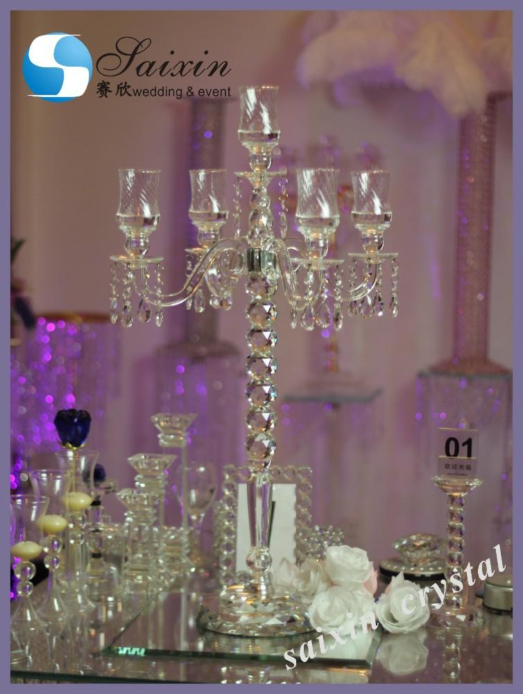 New crystal candelabra wedding event centerpieces zt
