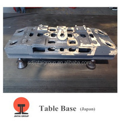 CHINA JINTAI CASTING High Quality ductile400/450/500/600/700 Iron Cast Machine tool Table Base Exproted to Japan