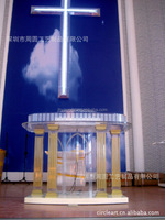 2015 High quality clear custom acrylic church podium/pulpit for sale